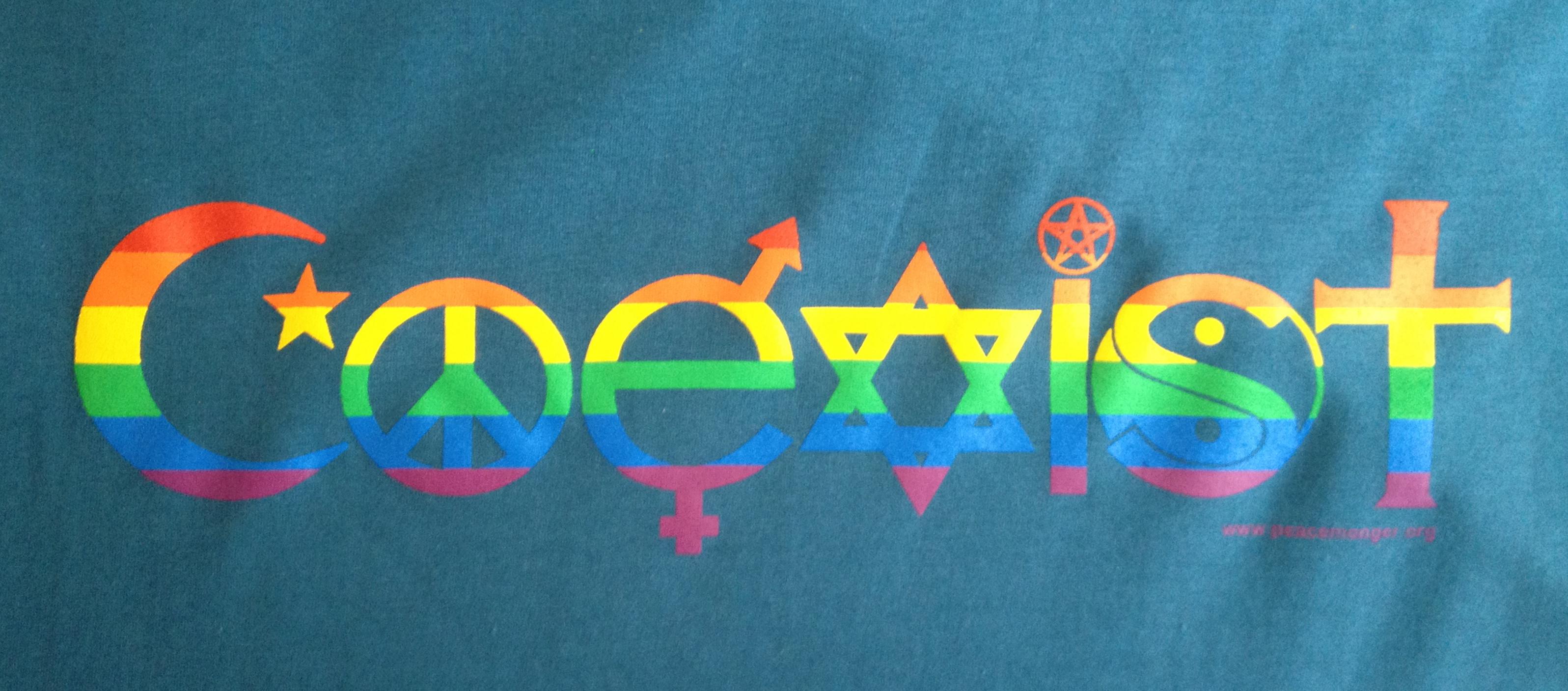 Coexist rainbow